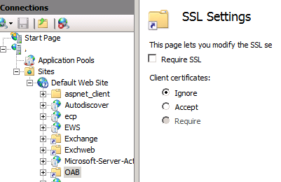 Online Help: Error message when Outlook clients synchronize