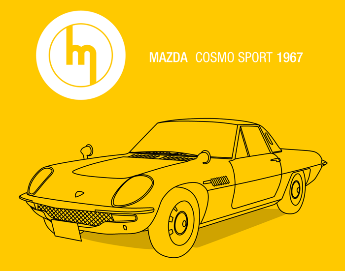 tableaux et affiches mazda cosmo sport