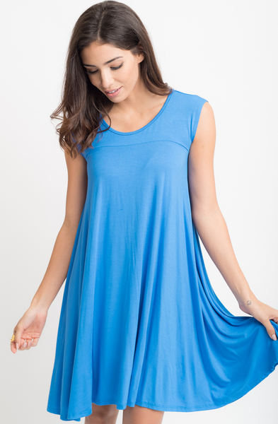 Buy now Jersey Cap Sleeve Dress Tunic online at caralase.com