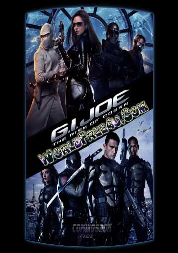 Poster Of Free Download G.I. Joe: The Rise of Cobra 2009 300MB Full Movie Hindi Dubbed 720P Bluray HD HEVC Small Size Pc Movie Only At worldfree4u.com