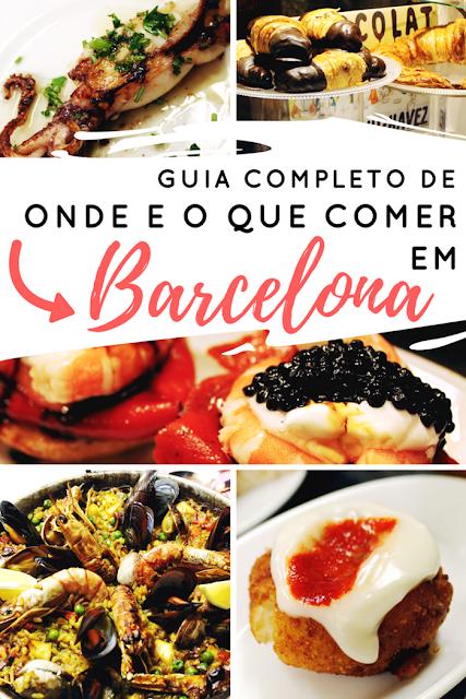 Guia de onde e o que comer em Barcelona - Drawing Dreaming