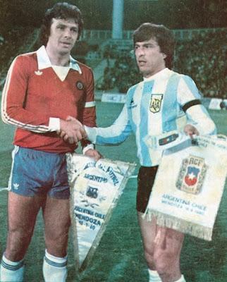 Argentina y Chile en partido amistoso, 18 de septiembre de 1980