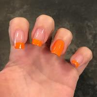 French arancione come la zucca di halloween