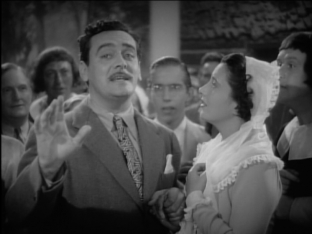 Ian Keith and Kay Francis in Comet Over Broadway (1938)