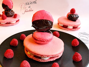 Macarons rose et framboise pour la Saint Valentin