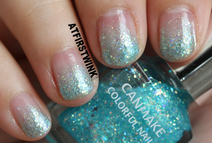 NOTD: Disney Cinderella film inspired nails (used canmake colorful nails 28)