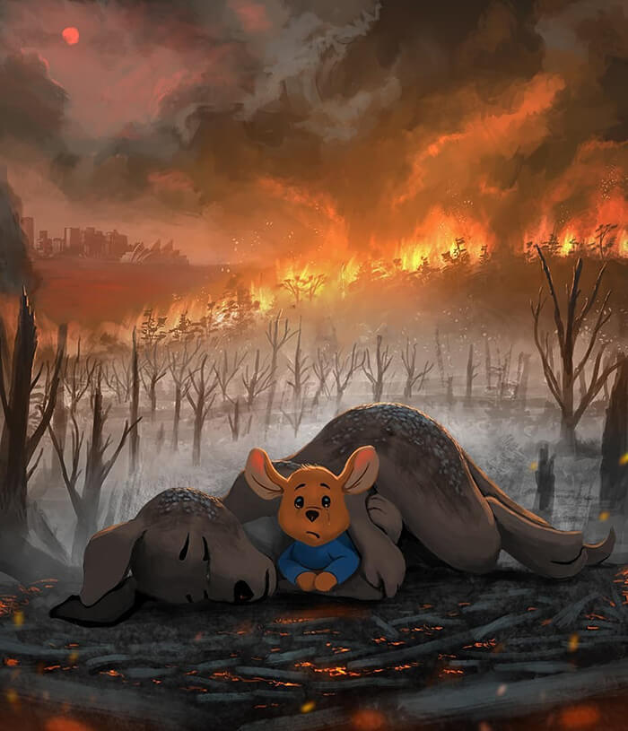 Compelling Artworks Honor The Victims Of Australian Fires