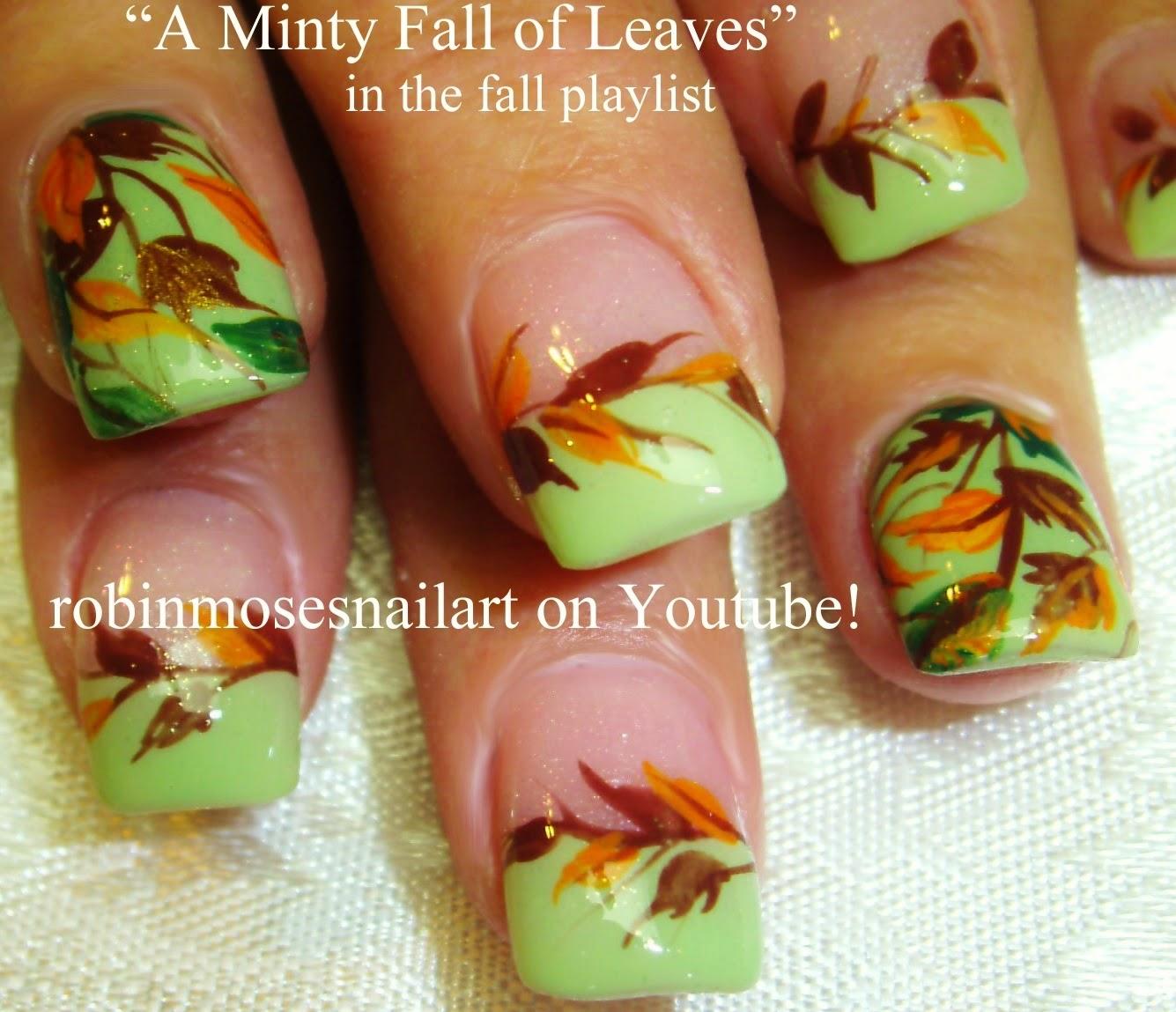 """Nail Art by Robin Moses: """"fall nails"""" """"easy fall nails ..."""