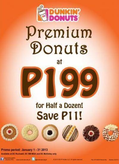 Dunkin Donuts Para Sa Iyo Classic And Premium Donuts