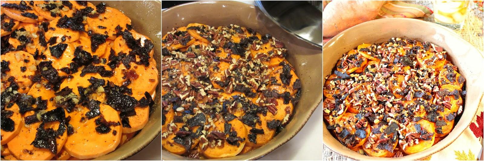 Better Bourbon Bacon Baked Sweet Potatoes