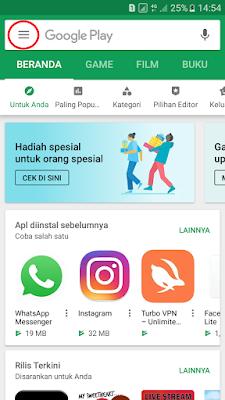 Buka aplikasi Google Play Store