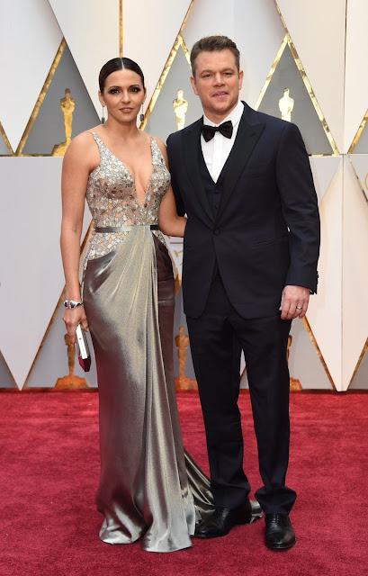 Matt Damon y Luciana Barroso Oscars 2017