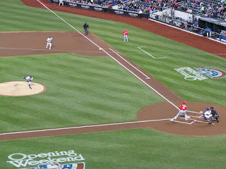 First pitch, Nationals vs. Metropolitans