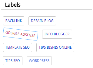Cara Modifikasi Widget Labels SEO pada Blog
