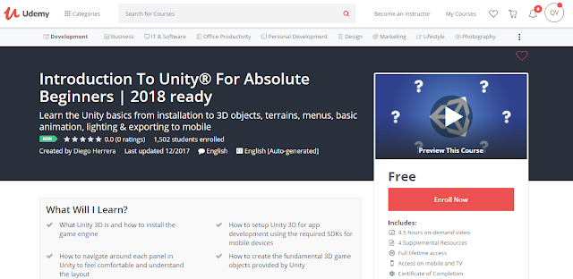 Introduction To Unity® For Absolute Beginners | 2018 ready