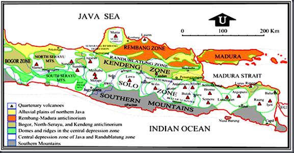 Zona Fisiografis Jawa Tengah dan Jawa Timur menurut Menurut Van Bemmelen