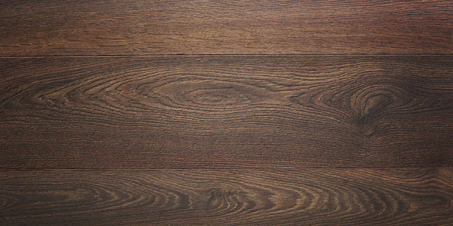 Dark hardwood shows off the natural graining