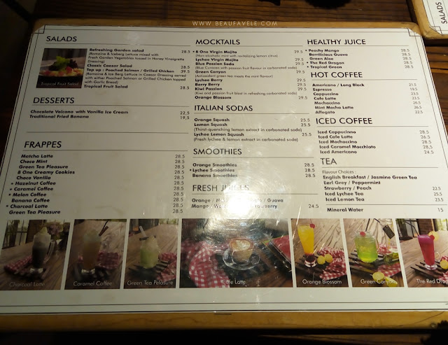menu minuman 81 sky resto bandung