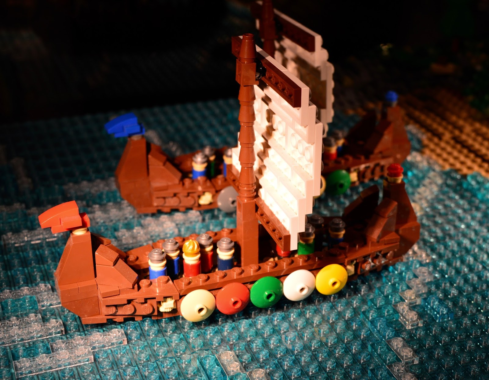 Brick History & North East Landmarks | New Lego Exhibitions at Life Science Centre, Newcastle | A Review - Viking boat