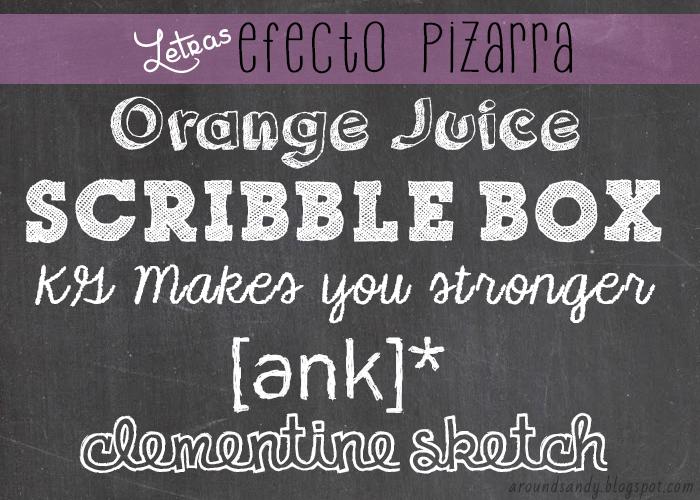 free sketchboard fonts Letras pizarra gratis