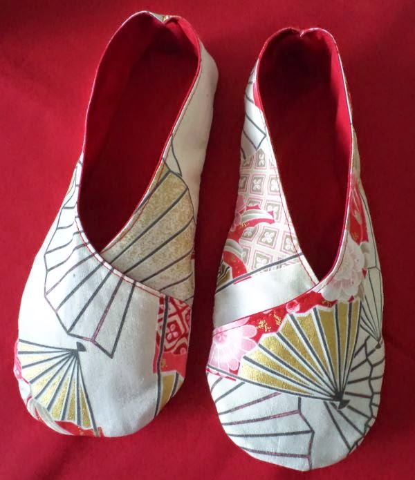 Kimono Slippers crafted by eSheep Designs