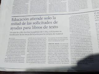 Artículo del Diario de Burgos