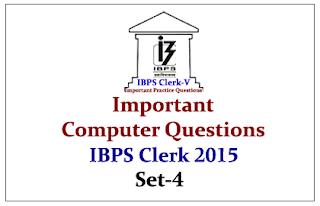 Race IBPS Clerk 2015- Important Computer Questions Set-4