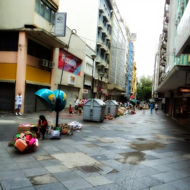 Calçadão da Rua da Praia, em Porto Alegre