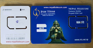 Ncell and Nepal Telecom SIM card