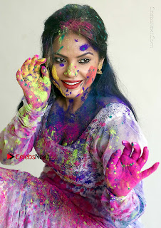 Bollywood Actress and Producer Neetu Chandra Special Po Shoot Gallery in a Dry Holi Celetion  0008.JPG