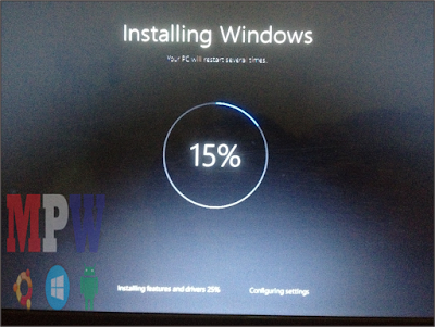 installing new windows 10 after reset