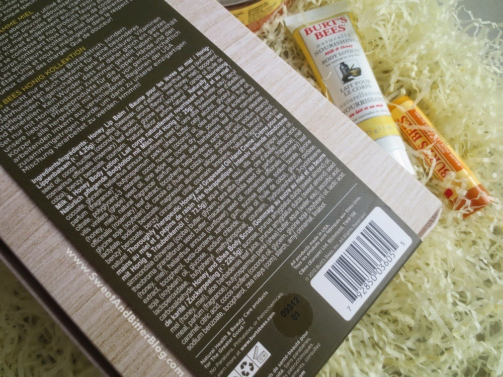 Burts Bees Honey Collection Gift Collection Ingredients Review