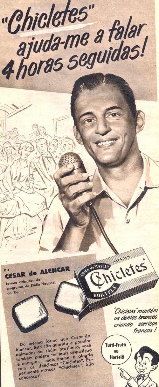 Campanha do Chicletes com o animador César de Alencar como protagonista