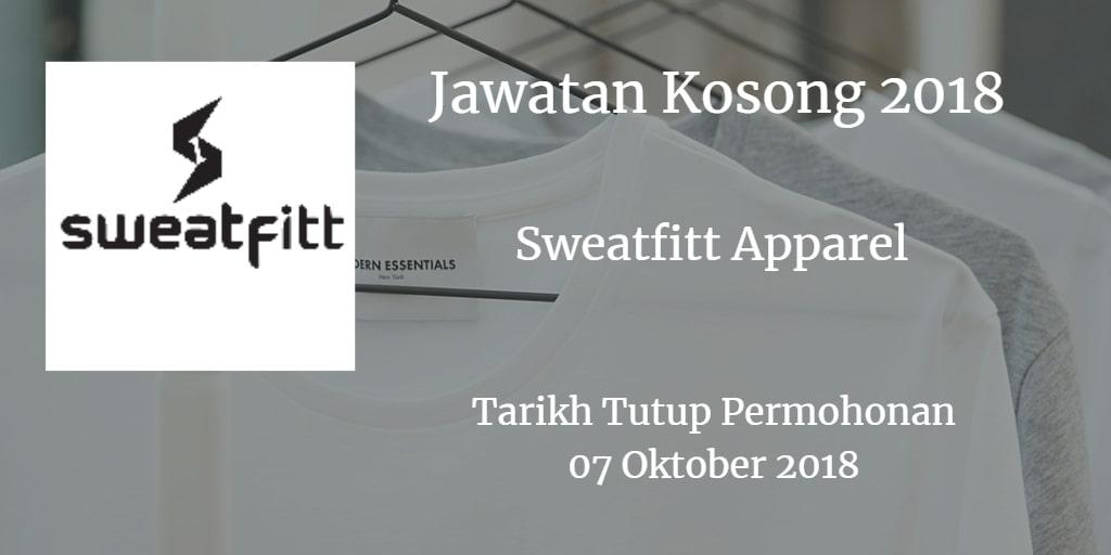 Jawatan Kosong Sweatfitt Apparel 07 Oktober 2018