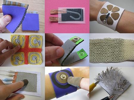 Various sensors in textile