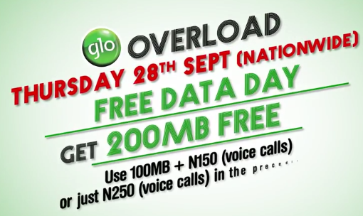 GLO: Another FREE DATA Day on 28th