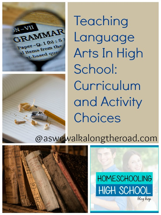 Language arts resources for high school