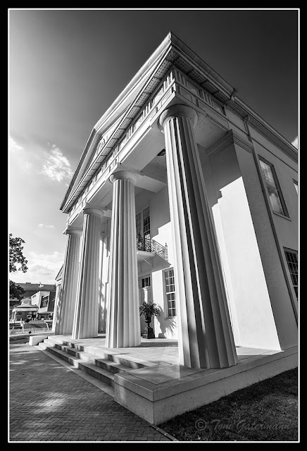 Columns of the Old State House Museum in Little Rock