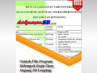 Download Contoh File Program Kelompok Kerja Guru Jenjang SD Lengkap