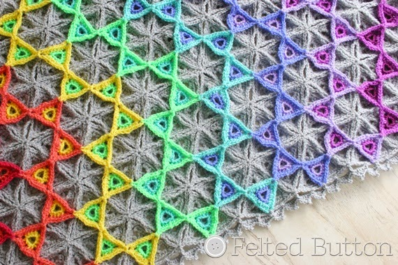 Prism Blanket Crochet Pattern by Felted Button