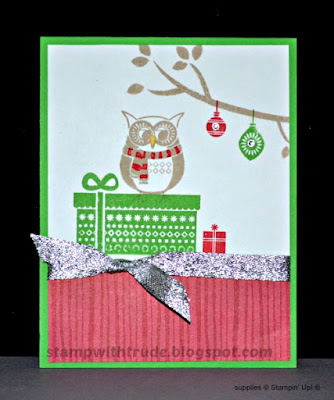 Cozy Critters, hostess set, Stampin' Up!, Stamp with Trude, Christmas card, Tuesday Tutorial
