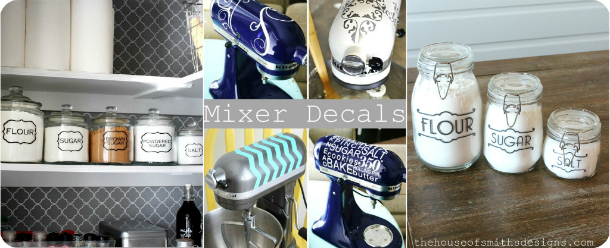 Pantry Jar Labels - Mixer Decals - thehouseofsmithsdesigns.com