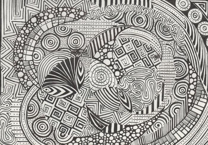 Jenis Doodle Art - Doodle Pattern