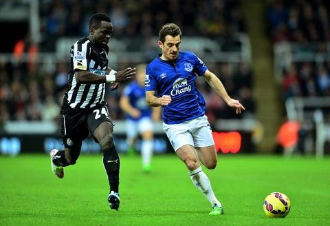 Baines chơi xuất sắc và ổn định trong mầu áo Everton