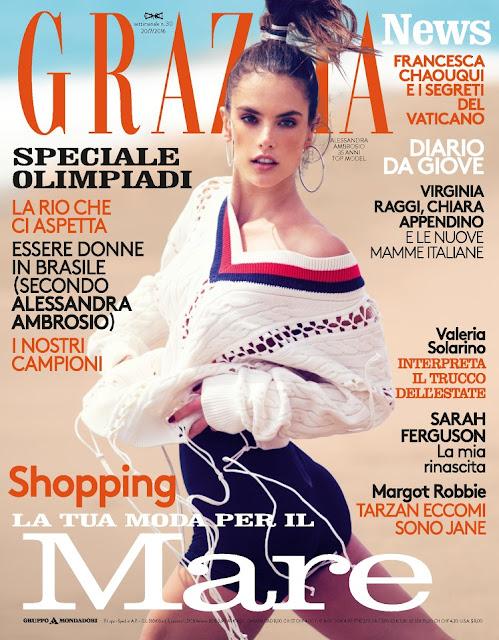 Actress, Model, @  Alessandra Ambrosio - Grazia Italia, July 2016