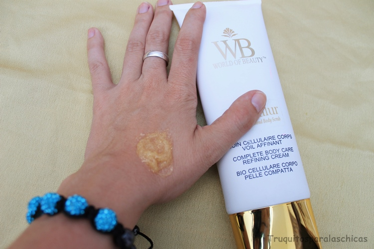 exfoliante corporal de oro World of Beauty