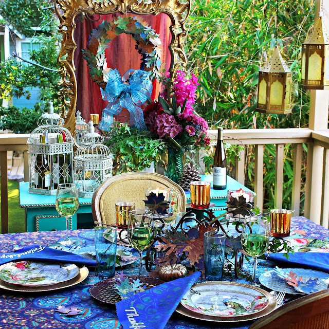 Boho Thanksgiving Tablescape and Cricut Giveaway!