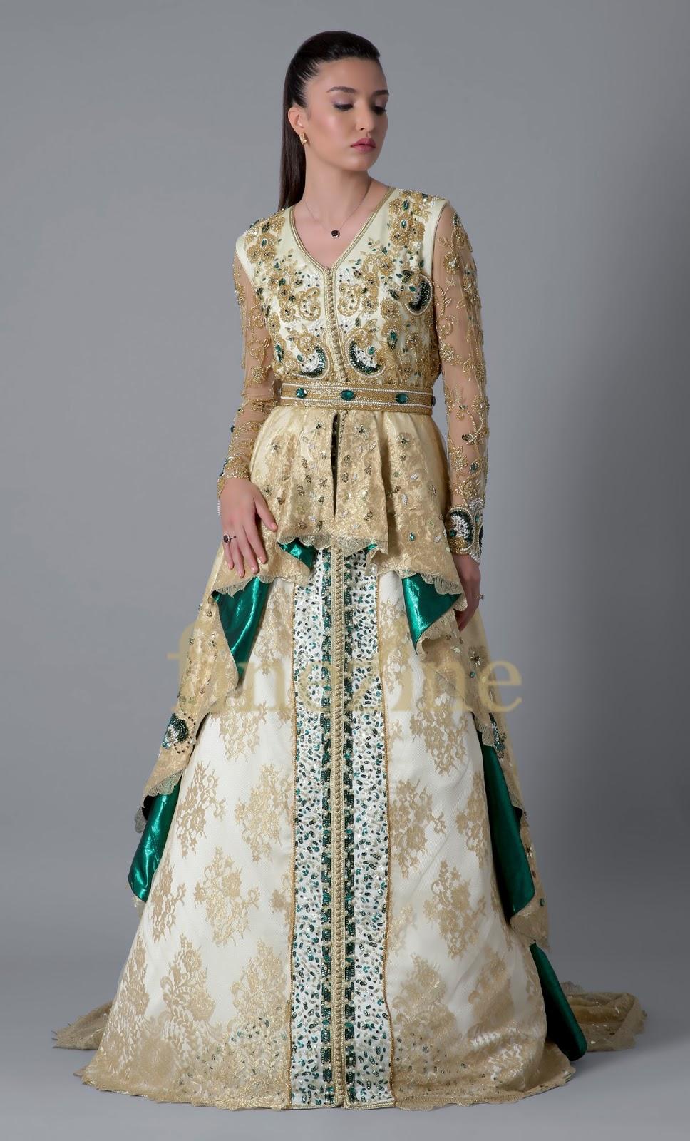 1- caftan robe de mariée à jupe princesse signé finezine 391a0f0e172