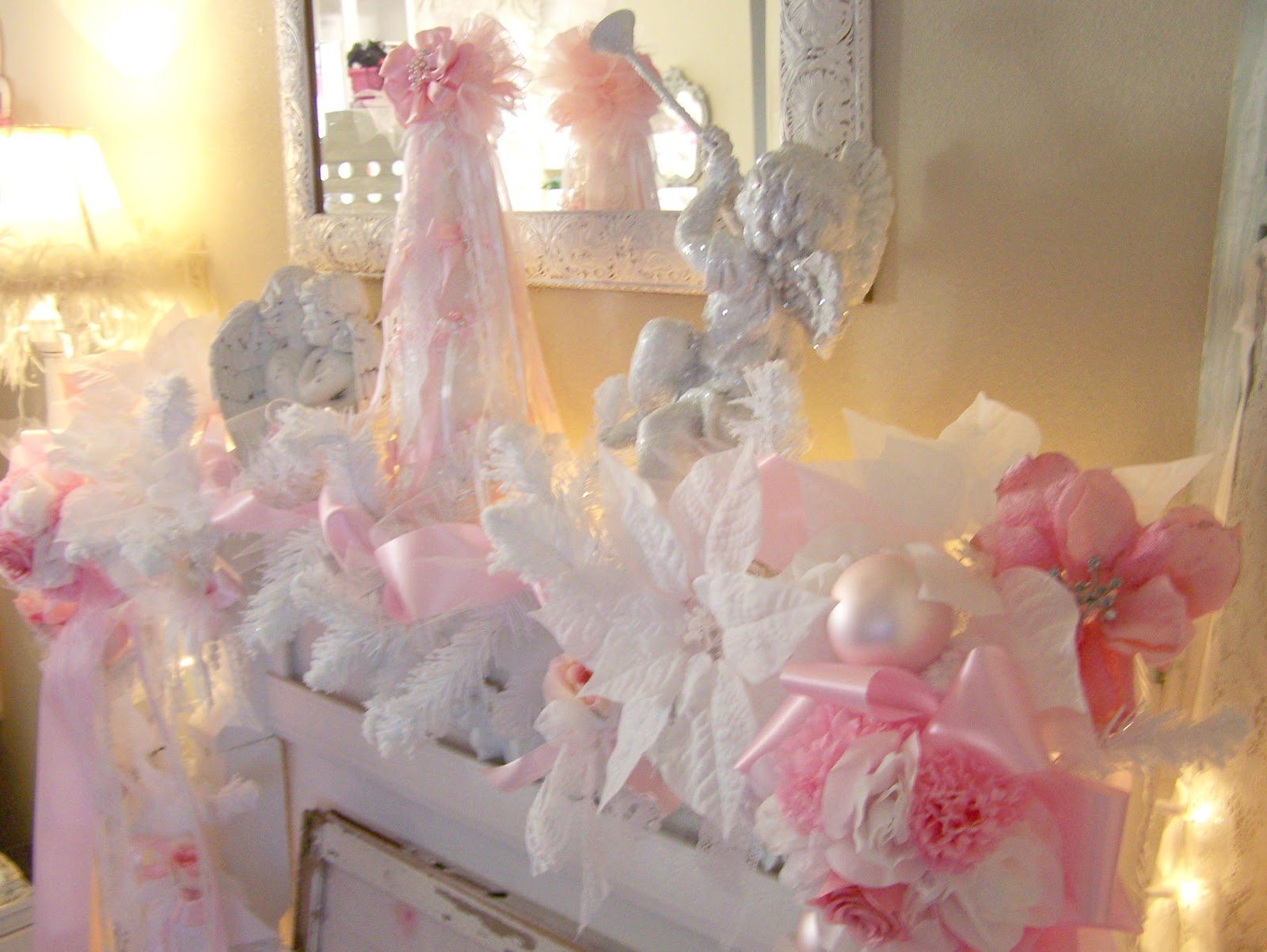 Olivias Romantic Home My Shabby Chic Pink Christmas Home