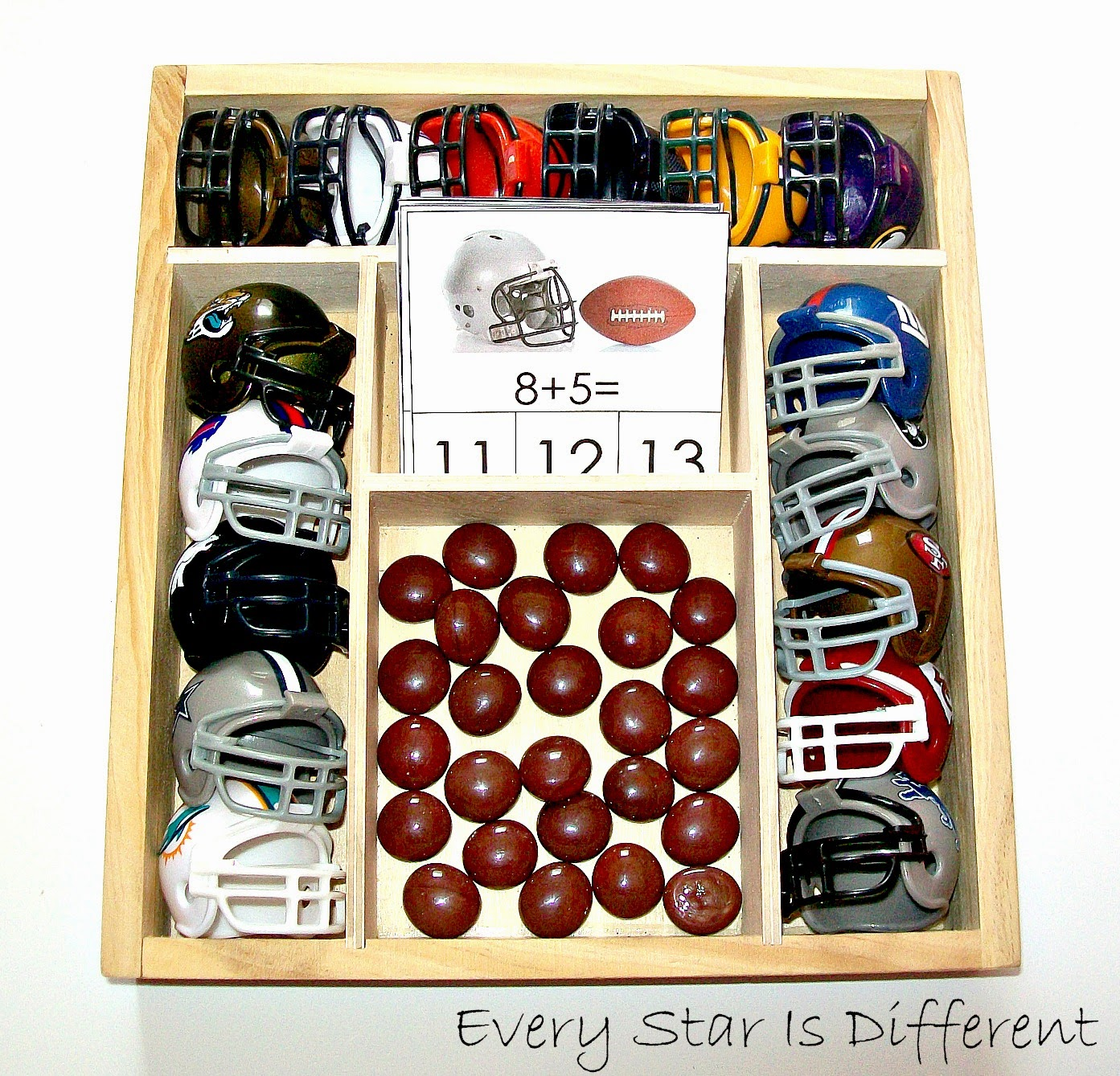Football Addition Clip Cards